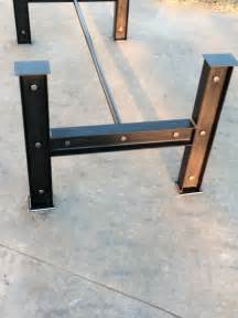 Metal Dining Table Legs And Bases Industrial I Beam Steel Metal Table Base Iron Dining Kitchen Table Legs Table Bases