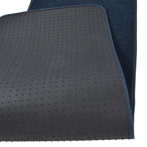 1 Front Floor Mats - set of 3 car floor mats 2 front 1 rear liner blue carpet