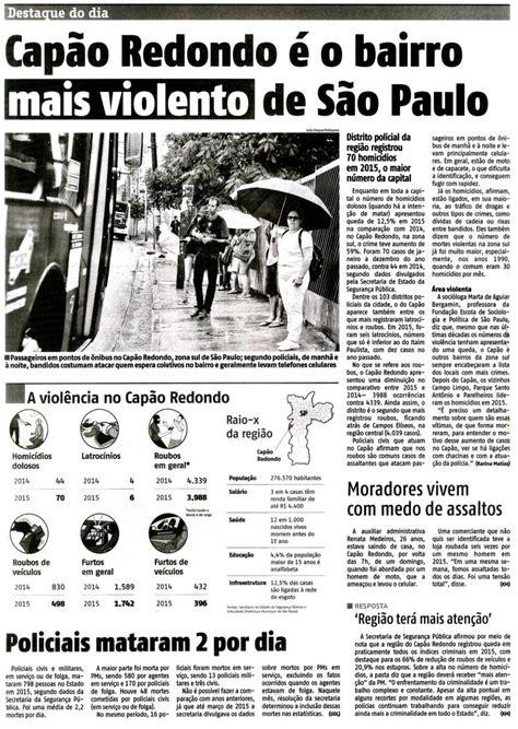 agora sao paulo jornal noticia sobre bonus 2016 fespsp causas do aumento da viol 234 ncia na periferia devem