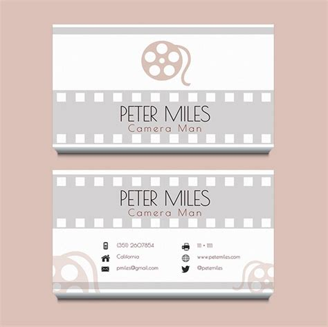 filmmaker business cards templates filmmaker business card