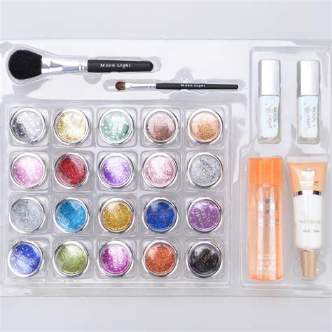 cheap tattoo kits under 20 wholesale glitter kit powder brushes glue