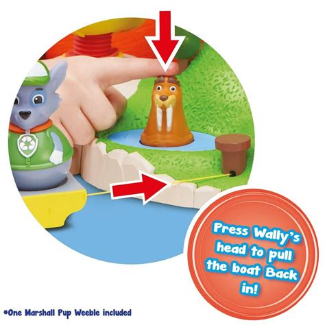 large paw patrol boat weebles paw patrol pull and play seal island playset