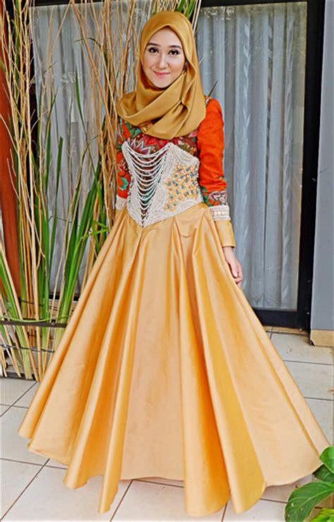 Baju Gamis Pesta Anggun Violet Murah koleksi baju muslim untuk pesta modern baju muslim pesta
