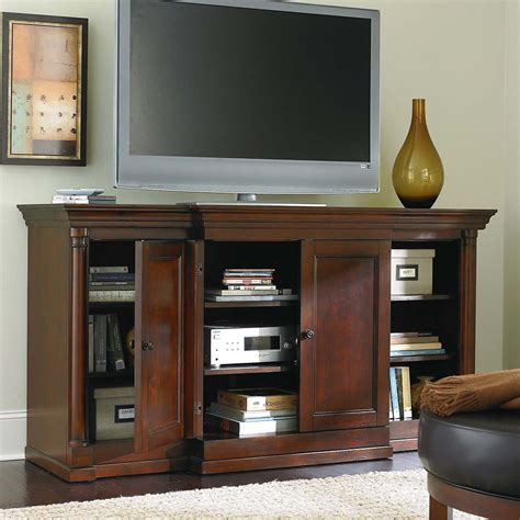 living room media furniture dark finish tall media cabinet and living room storage