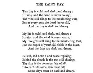 A Rainy Day Essay by Longfellow Poetry
