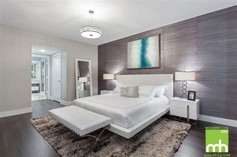 silver bedroom furniture in miami condo by montgomery roth 151 biscayne condo modern bedroom miami by mh2g