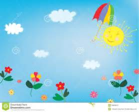 sun and sky background for children royalty free stock