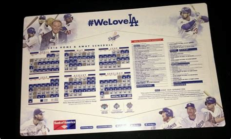 Los Angeles Dodgers Giveaway Schedule - the daily sga rundown april 12th 2016