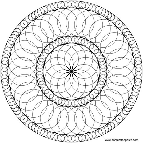 don t eat the paste circles mandala to color