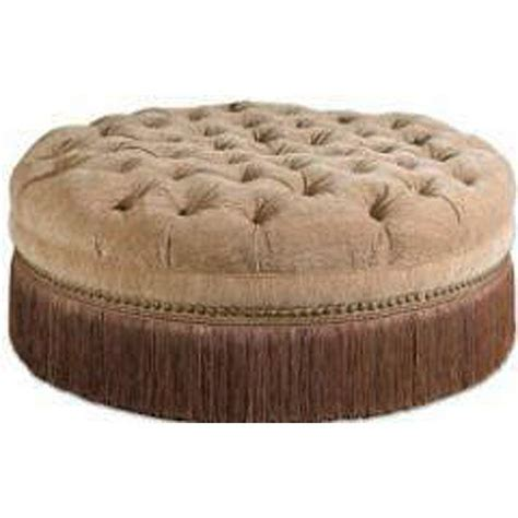 round tufted ottoman with fringe golden sand round tufted ottoman w fringe upscale