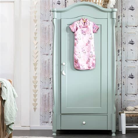 Green Canvas Wardrobe - pebbles wardrobe in seagreen coming cuckooland