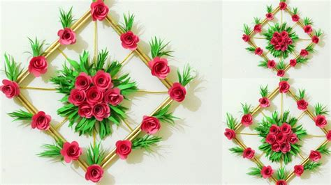 diy simple home decor paper flower wall decorations