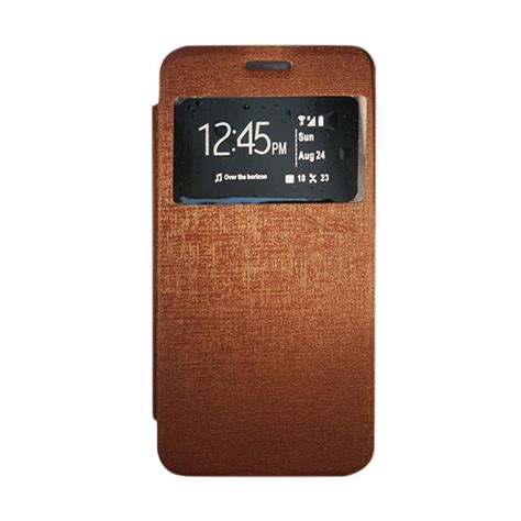 Gea Flip Cover Vivo X3s Hitam jual gea flip cover casing for vivo x3s coklat