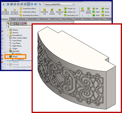 sketch pattern along curve solidworks curved balcony design faux wrought iron cad how to