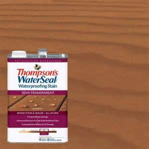 thompson water seal colors thompson s waterseal 1 gal semi transparent acorn brown