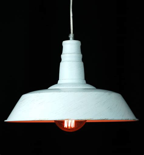 White Pendant Light White Warehouse Industrial Ceiling Pendant Light By Made With Designs Ltd