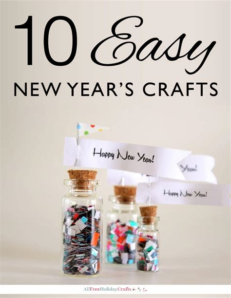 new year project ideas 10 easy new year s crafts allfreeholidaycrafts