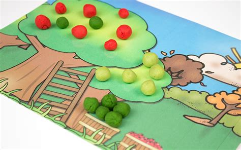 Playdough Mat Printables by Printable Apple Playdough Mats
