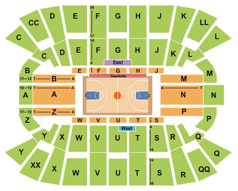 mullins center seating chart tickets seating chart mullins center basketball