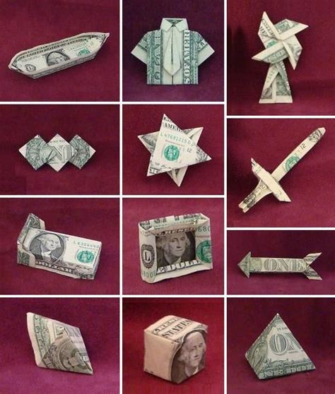 How To Make Origami With A Dollar - dollar bill origami money origami