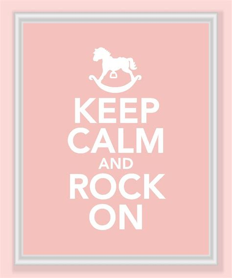 Keep Calm Rock On Oceanseven keep calm and rock on print in pink