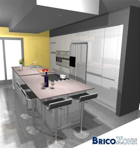 entr馥 cuisine distance entre meubles de cuisine et ilot