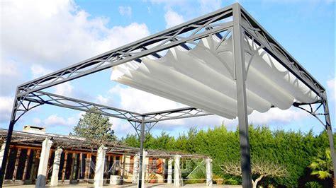 tettoia scorrevole pergola tenda sole 3x3 stile liberty ferro battuto gazebo