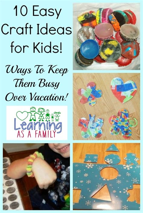 travel crafts for 10 easy craft ideas for ways to keep them busy