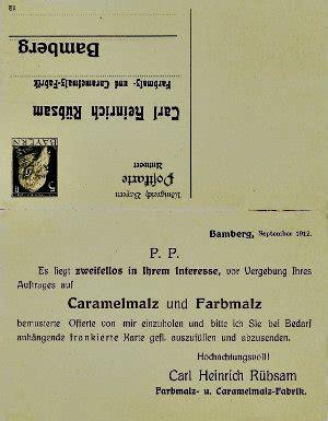Postkarten Druckerei Fulda by Belege Belege Bamberger Firmen Http Www