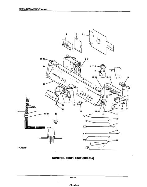 kitchenaid dishwasher parts diagram kdi 21a diagram parts list for model kdi21a kitchenaid
