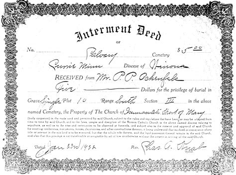 Clipart Deed Border Template 4 Cemetery Deed Template