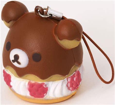 Squishy Rillakuma Cake rilakkuma raspberry cake squishy cellphone charm
