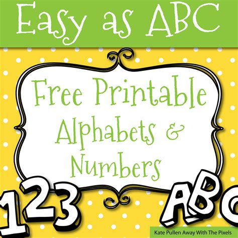 printable letters numbers crafts