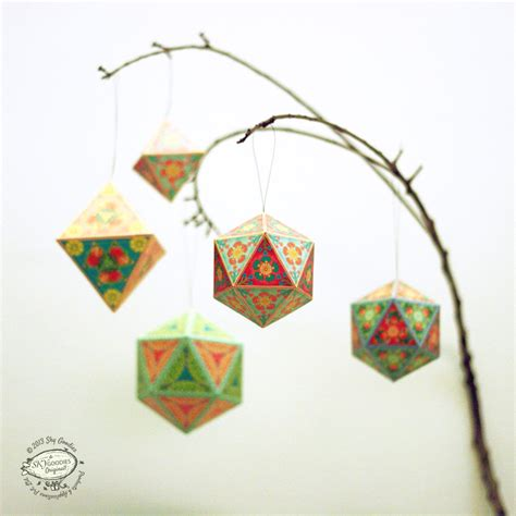 printable paper decorations christmas ornaments papercraft diy paper tree home decor