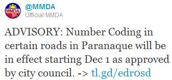 mmda number coding scheme directions routes maps paranaque city life paranaque resumes number coding