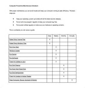 Equipment Replacement Plan Template by Maintenance Schedule Template 20 Free Word Excel Pdf