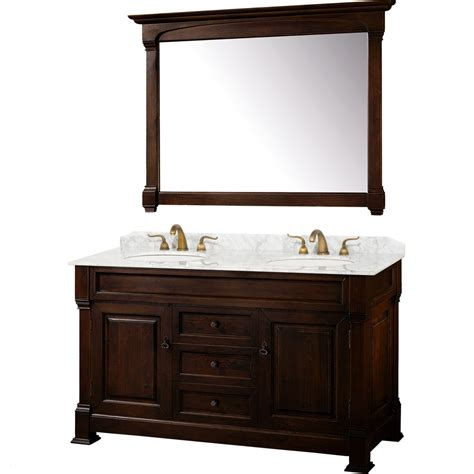 60 Inch Bath Vanity Wyndham Collection Andover 60 Inch Traditional Sink Bathroom Vanity Wc Td60 Dkch At