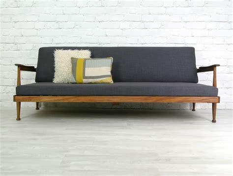 mid century sleeper sofa guy rogers retro vintage teak mid century danish style