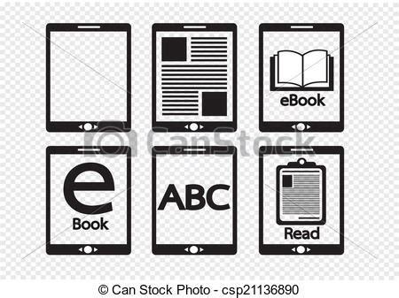 e book icon design stock vector image 49331229 eps vectors of e book reader and e reader icons set