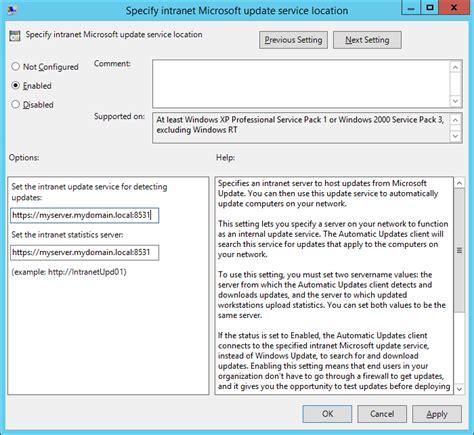 enabling ssl  windows server update services wsus
