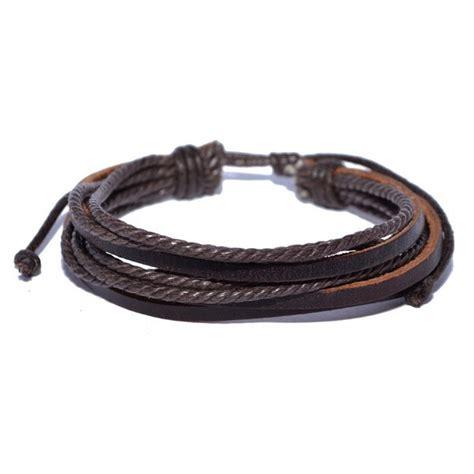 Gelang Kulit Cowok Bracelet With Alloy Gelang Import Jual Gelang Gaul Kulit Untuk Pria Dan Wanita Import Shop