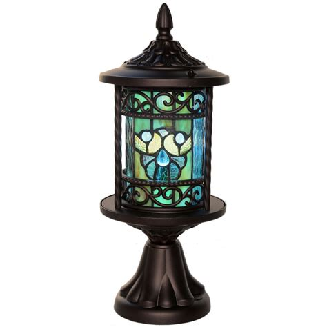 stained glass outdoor light river of goods swirling shells stained glass outdoor 10