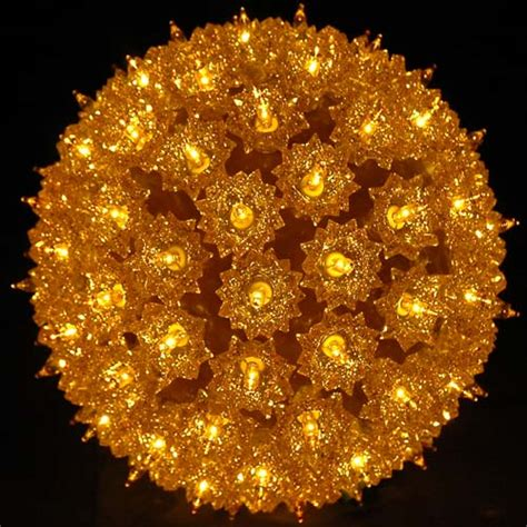 7 5 quot starlight sphere 100 light gold christmas lighted ball