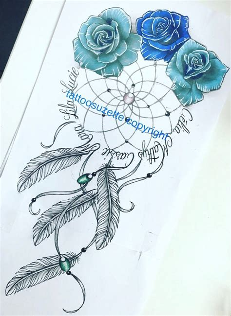 dreamcatcher tattoo design by tattoosuzette on deviantart