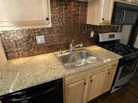 backsplash in kitchens kitchen aluminum backsplash copper backsplashes for