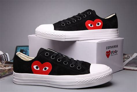 Converse Ct Kulit N Suede Size 36 44 fashion converse black comme des garcons suede chuck all low tops sneakers s58307