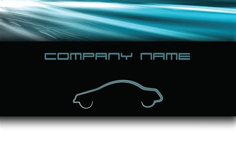 automotive business card templates blue road automotive business card design 501031