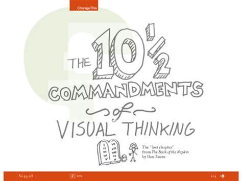 visual thinking danroam the 10 1 2 commandments of visual thinking note point