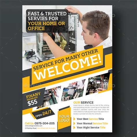 Cell Phone Repair Flyer Template