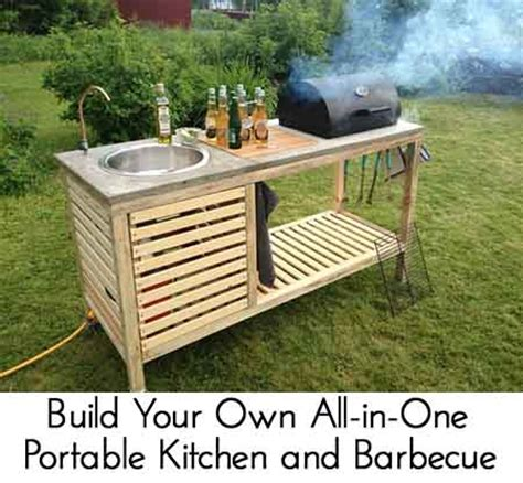 Your Own Portable Barbecue by Build Your Own All In One Portable Kitchen And Barbecue